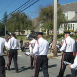 Marching down Granite Street, Westerly