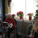 Caroling at Westerly Health Center