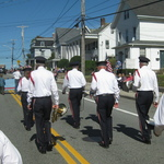 Marching up High Street Columbus Day