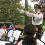 Alison Patton conducting Garden Market Fair concert