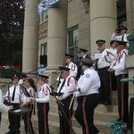 playing at town hall Good neighbor day