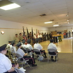 ceremonies at Pawcatuck vfw for Memorial Day
