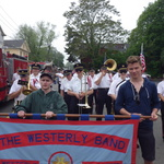 Water Street line up for Mystic Memorial Day Parade