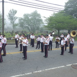 Pause in parade at cemetery Route 1 Mystic