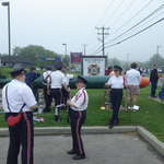 watching rest of parade at Mystic VFW