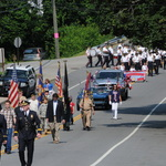 Marching onto Pequot Trail (Rt 234) Memorial Day 2012