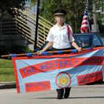 Fireman's Parade 2015 Jamie carrying banner