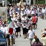 Mount Carmel Procession leaving church