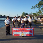 Marching in for Mystic River Concert