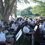 Concert by the water shelter Harbor