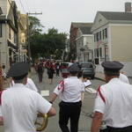Procession winds through the village of Stonington, CT