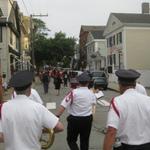Procession winds through the village of Stonington, CT