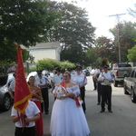 Procession forming with the Domingos representatives