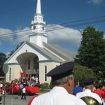 Processing to St Marys Church, Stonington, CT