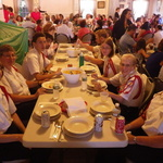 Holy Ghost Festival Dinner at the HGSociety Band table