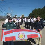 Ward Street lining up for parade