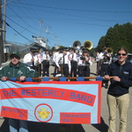 Banner Carriers ready for Columbus Day Parade