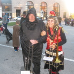 Pete and Wanda with their trombones