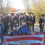 marching into place at the beginning of parade