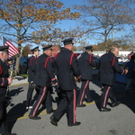 Marching up Railroad St. Westerly RI