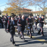 Marching past Railroad station Westerly
