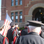 Marching into Westerly Armory