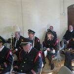Waiting for beginning of Veteran's Day Program
