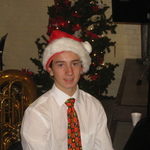 Rodri, an exchange student from Spain, plays clarinet
