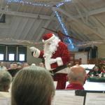 Santa conducts