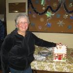 Jean wins the Raffle gingerbread Cookie Jar