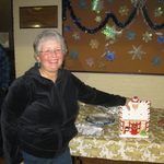 Jean wins the Raffle gingerbread Cookie Jar