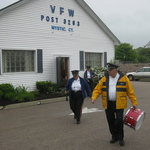 Jean and Ross at Mystic VFW --very wet day!!