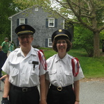 Waiting for Charlestown Parade -- Saul and Chris