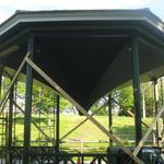Gazebo Wilcox Park restoration 2017