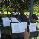 Ribbon Cutting ceremony for restored gazebo Wilcox Park