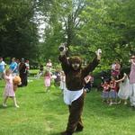 Momma Bear greeting everyone before Teddy Bear's Picnic