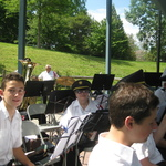 Clarinet players for children's concert
