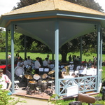 Band in newly restored Gazebo ready for concert