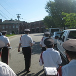 Marching up to Firehall for Fireman's Parade 2017