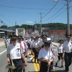 procession on Oak Street