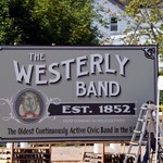 Bricks and murals painting featuring WEsterly BAnd