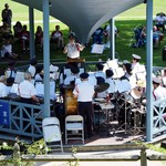 Bricks and murals Band Concert in the gazebo