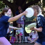Fund during the band's playing of The Pie in the Face Polka