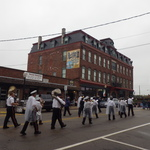 Marching on Canal near Block Island Mural