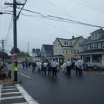 Marching down Liberty St, Pawcatuck