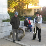 Nate and Saul ~ tuba and trombone