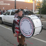 Our Conductor Alison with the Bass Drum