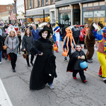 large crowd of children of all ages in parade