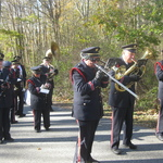 Warming up for parade on a cold day