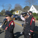 Ceremony at memorial ready to play Taps
